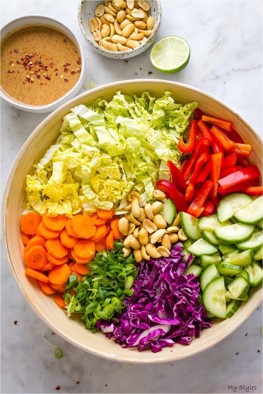 Thai Crunch Salad + Citrus Peanut Dressing - The Simple Veganista #mexican #Vegetarian #Recipes