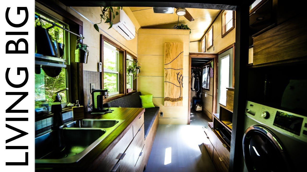Astounding Tiny House With Downstairs Master Bedroom. *Love the blue ...