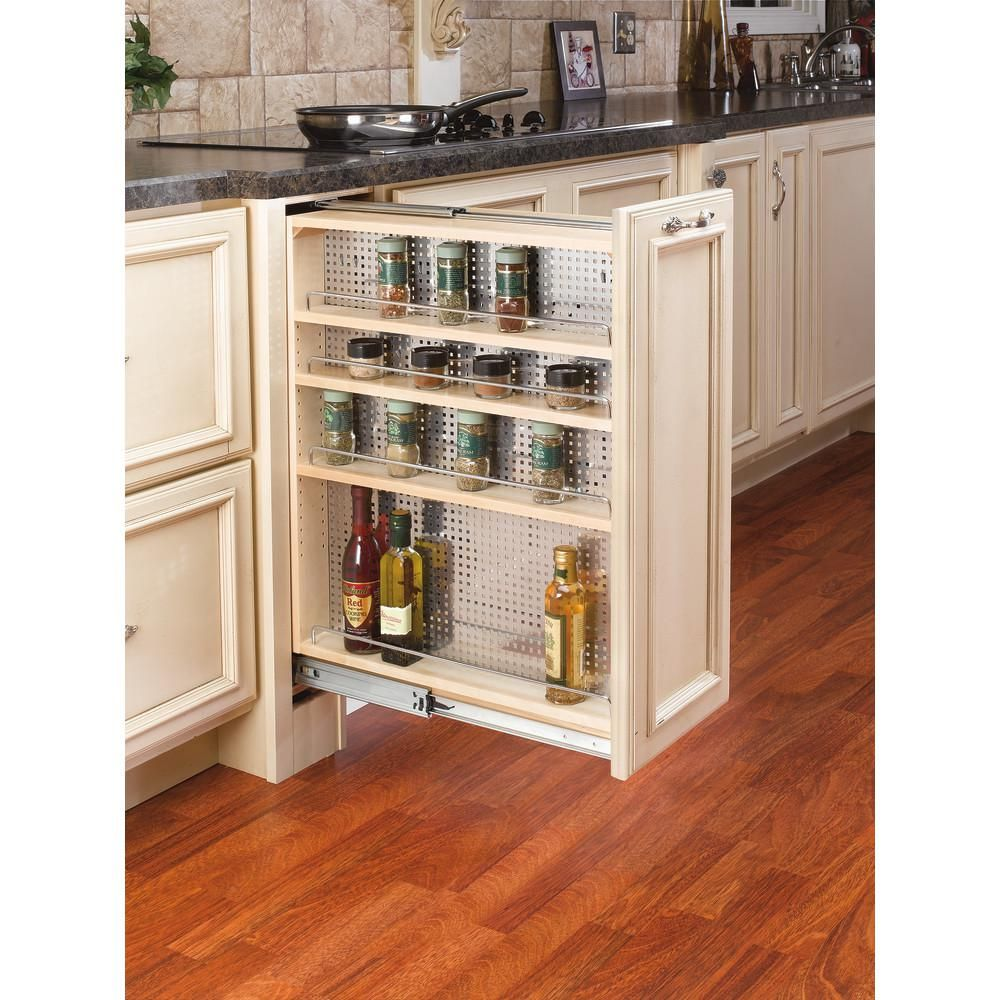 Rev A Shelf 30 In H X 9 In W X 23 In D Pullout Between Cabinet Base Filler With Stainles Traditional Kitchen Cabinets Diy Kitchen Renovation Kitchen Remodel