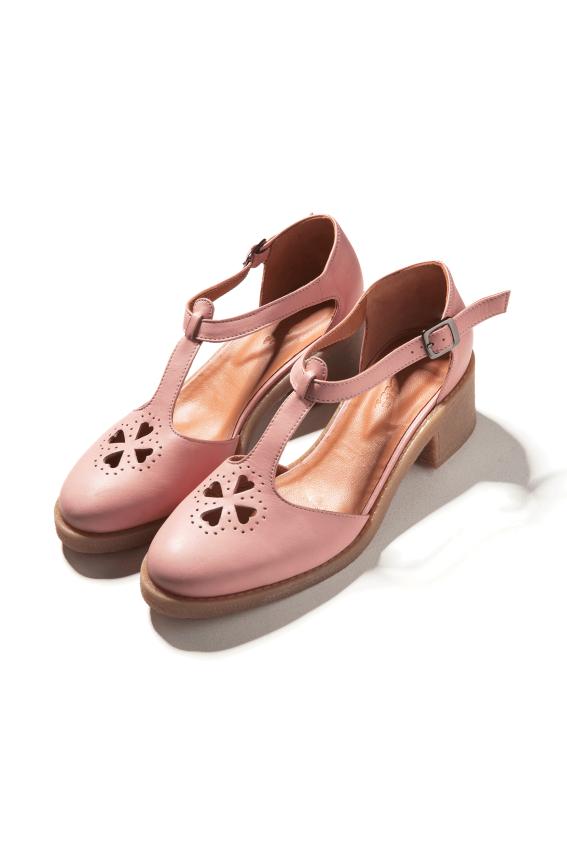 837a778a95dfbd Sandales Rosie rose poudre - Ballerines et escarpins - Les Chaussures -  Eshop