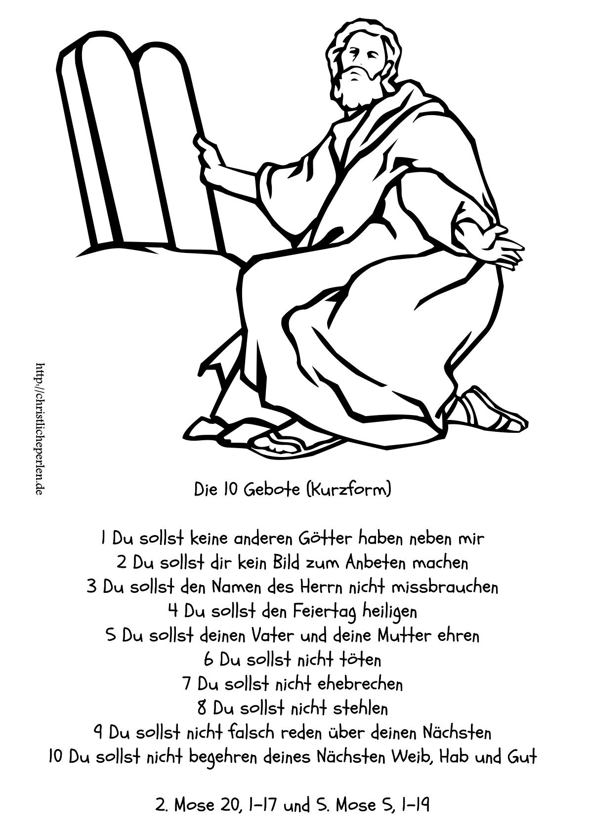 biblische malvorlagen 10 gebote 05 | religion | Pinterest | Gebote ...