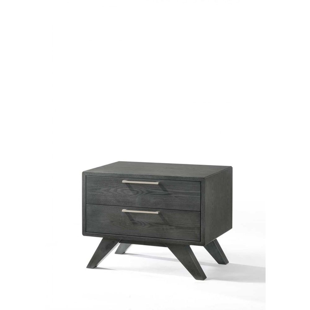 Nova Domus Modern Grey Wash Nightstand Gray In 2020 Gray Wash
