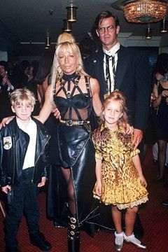 Donatella Versace With Her Children And Former Husband Celebrity