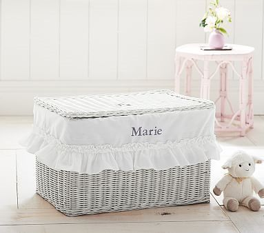 Sabrina toy chest ruffle liner pottery barn kids personalized sabrina toy chest ruffle liner pottery barn kids negle Choice Image