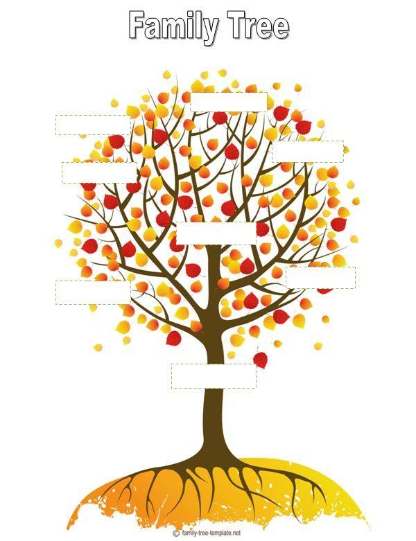 Blank Tree Blank Family Tree #1 Family Charts Pinterest - blank family tree