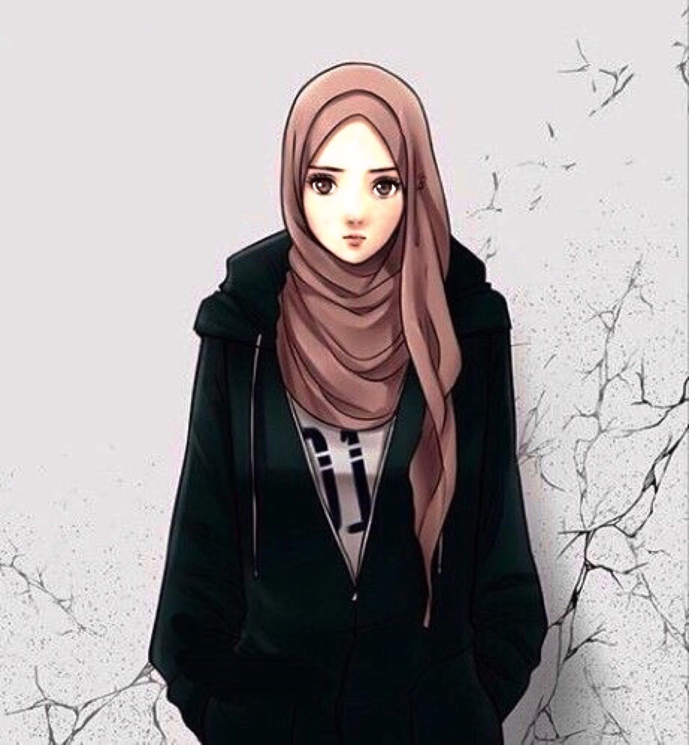 Pin by Acu Atiq on Muslimah Hijab drawing, Girl hijab