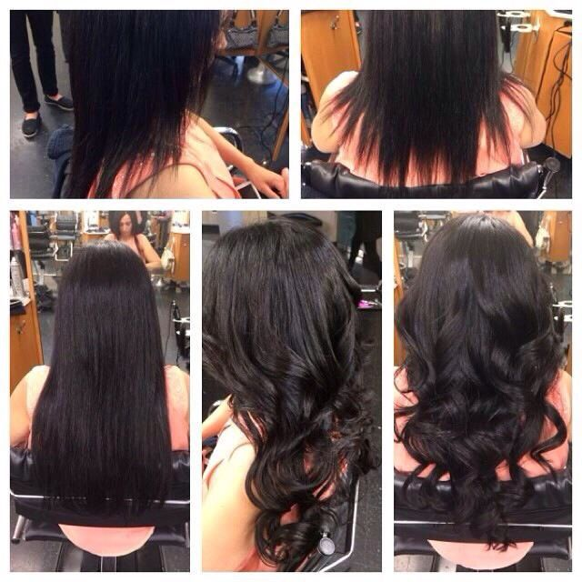 Before after 18 fusion hair extensions and keratin treatment by so cap hair extensions before and after by izzy at mario tricoci orland park pmusecretfo Gallery