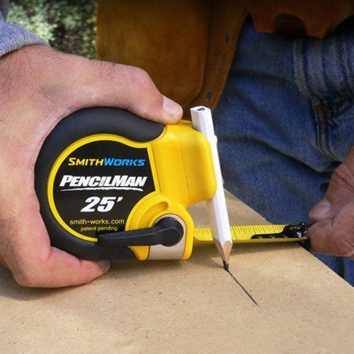 Pencilman Marking Tape Measure Holds Any Pencil Or Marker To 5 8 Diameter Arcs And Circles Single Handed Marki Tape Measure Strong Tape Measurement Tools
