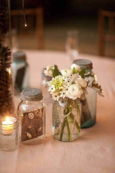 I love the photos in the jars - super fun.