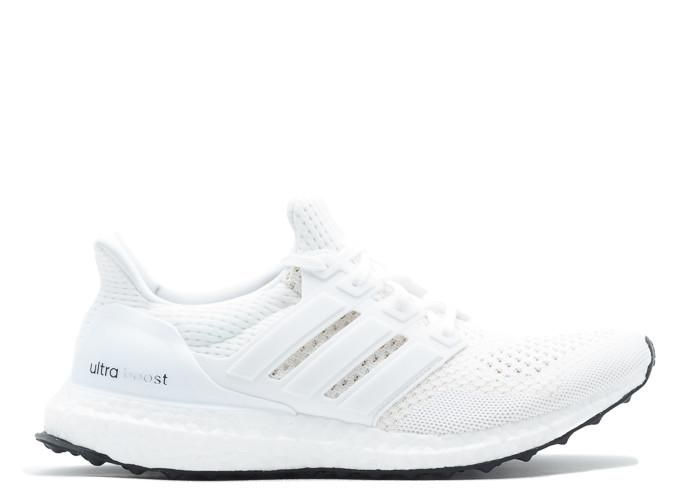 Ultra Boost White Shoes With Black Sole