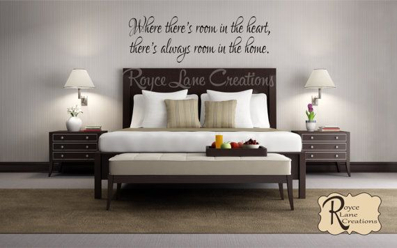 Guest Bedroom Wall Decal Where There S Room In The Heart Guest