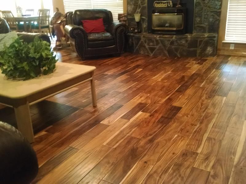 Before and after lumber liquidators tobacco road acacia for Tobacco road acacia wood flooring
