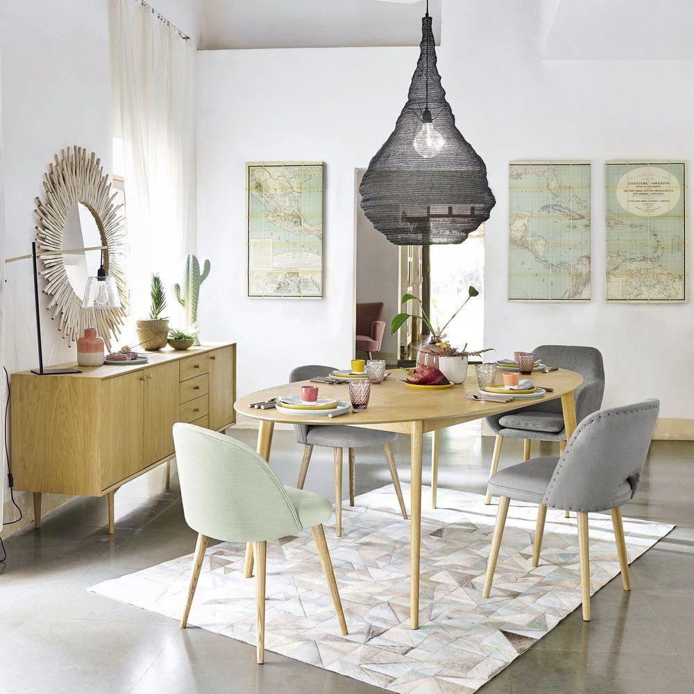 Mesa de comedor vintage ovalada para 6/8 personas An.210 | Maisons ...