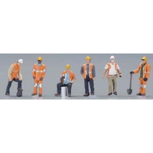 BACHMANN - HO Maintenance Workers (6) - Train Figures (HO Scale