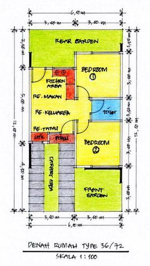 Desain denah rumah tipe 3672 homestay ideas pinterest rooftop desain denah rumah tipe 3672 malvernweather Choice Image
