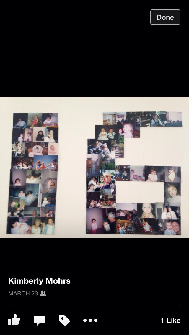 Maddie's 16th birthday picture collage
