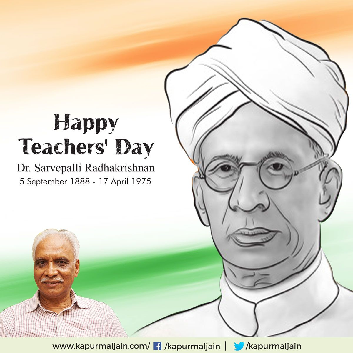 Today Is The Birthday Of Dr Sarvepalli Radhakrishnan Celebrated As Teacher S Day A Proud Day For All Happy Teachers Day Teachers Day Hearty Congratulations