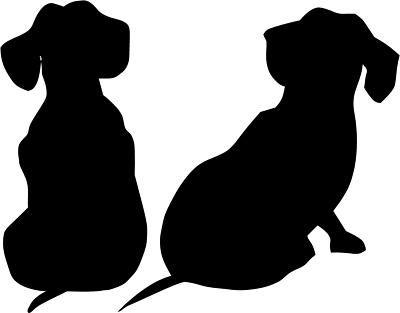 joking hazard dachshunds  silhouettes and babies weiner dog clipart black and white weenie dog clipart