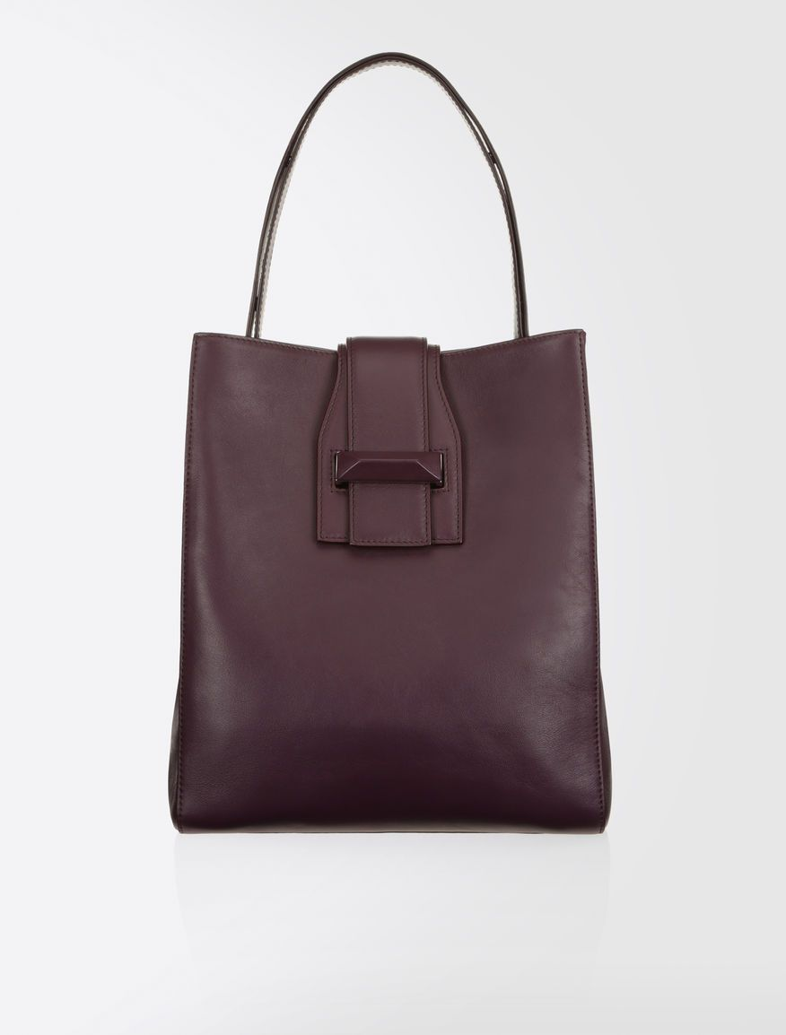 Aubergine Max Mara Bag Leather Totes Handbags S Bags Me