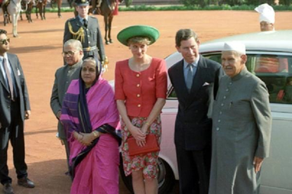 1992 02 10 Prince Charles and Princess Diana arrived in India, at the start of a six day tour
