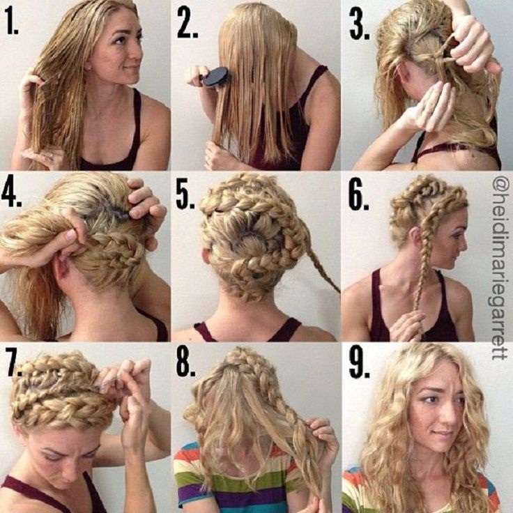10 Diy No Heat Curls Tutorials Top Inspired Curly Hair Styles Hair Without Heat Damp Hair Styles