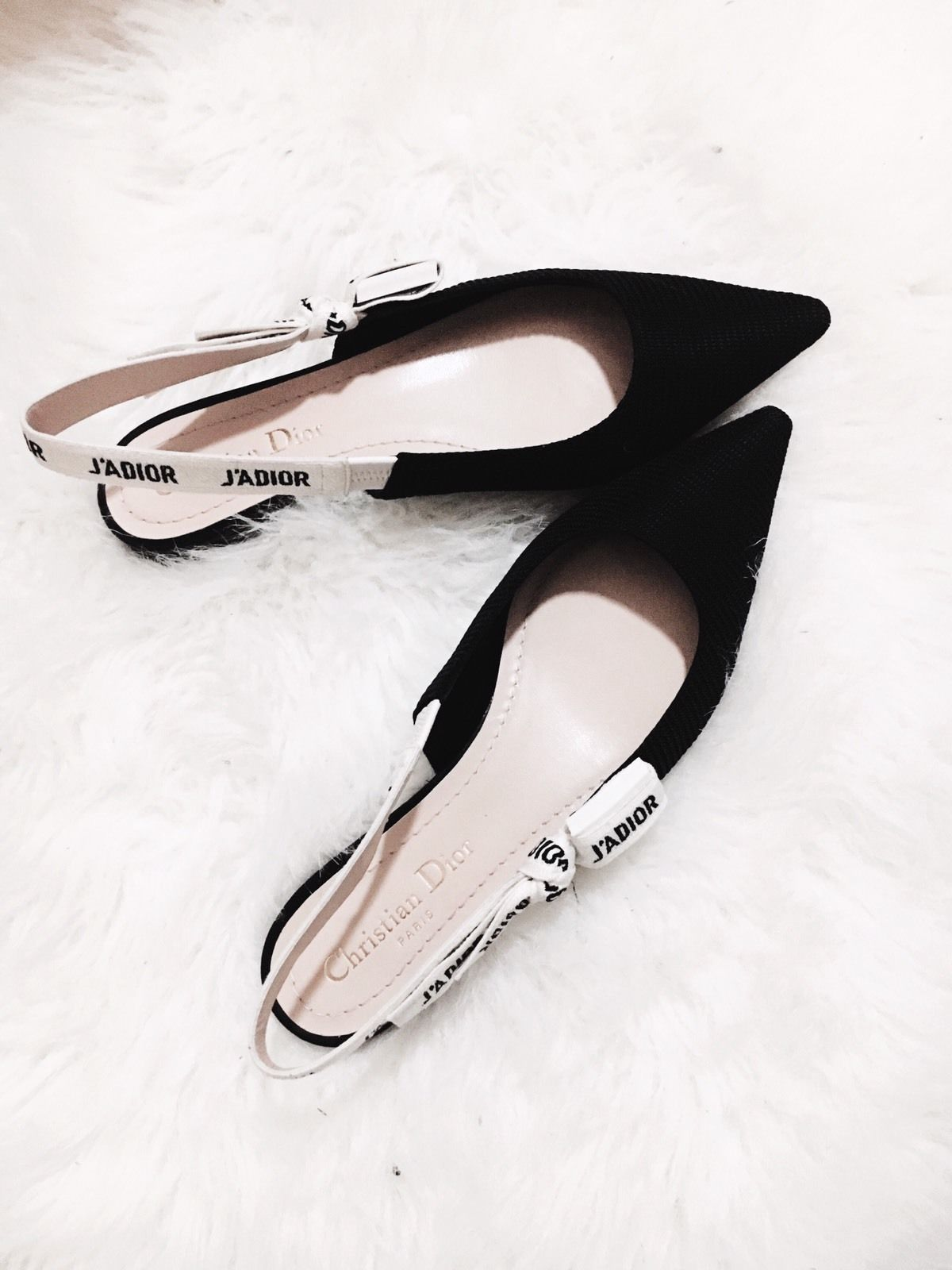 0e77210352a Brand New Christian Dior J adior Jadior Black Flat Slingback Shoes - Size 35