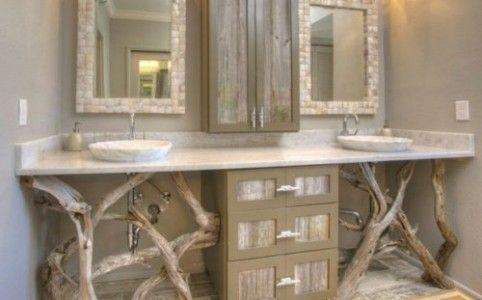 Idée décoration Salle de bain – déco salle de bain bois flotté ...