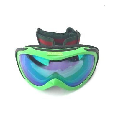9bf9a230778 Gucci  1653 Ski   Snowboard Goggles Neon Green   Red