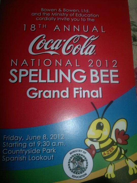 Coca Cola National Spelling Bee is Tomorrow
