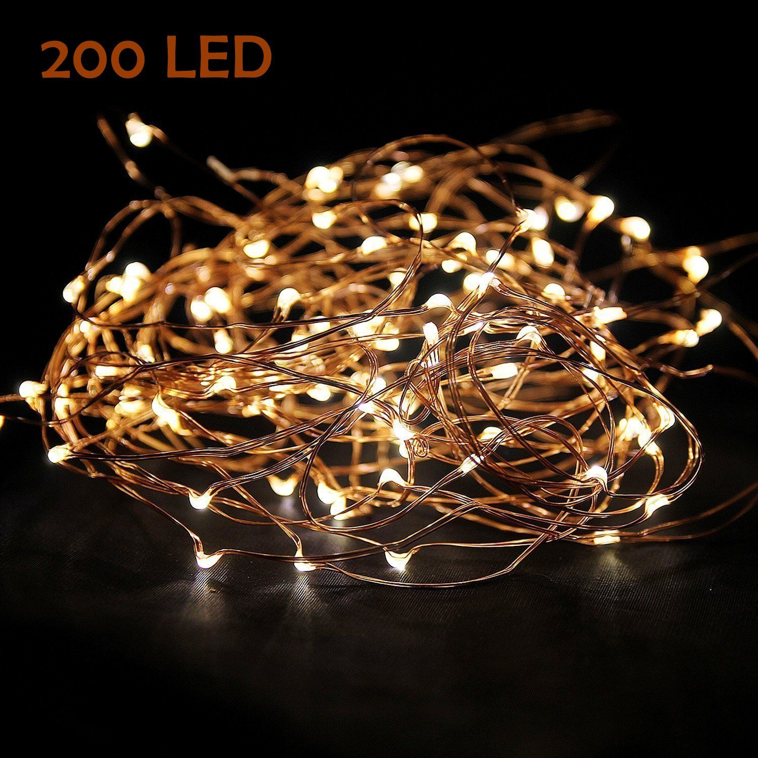 Amazon.com: Starry String Lights Warm White Color LED's on a Flexible Copper Wire - LED String Light with 120 Individually Mounted LED's, 20ft: Home Improvement