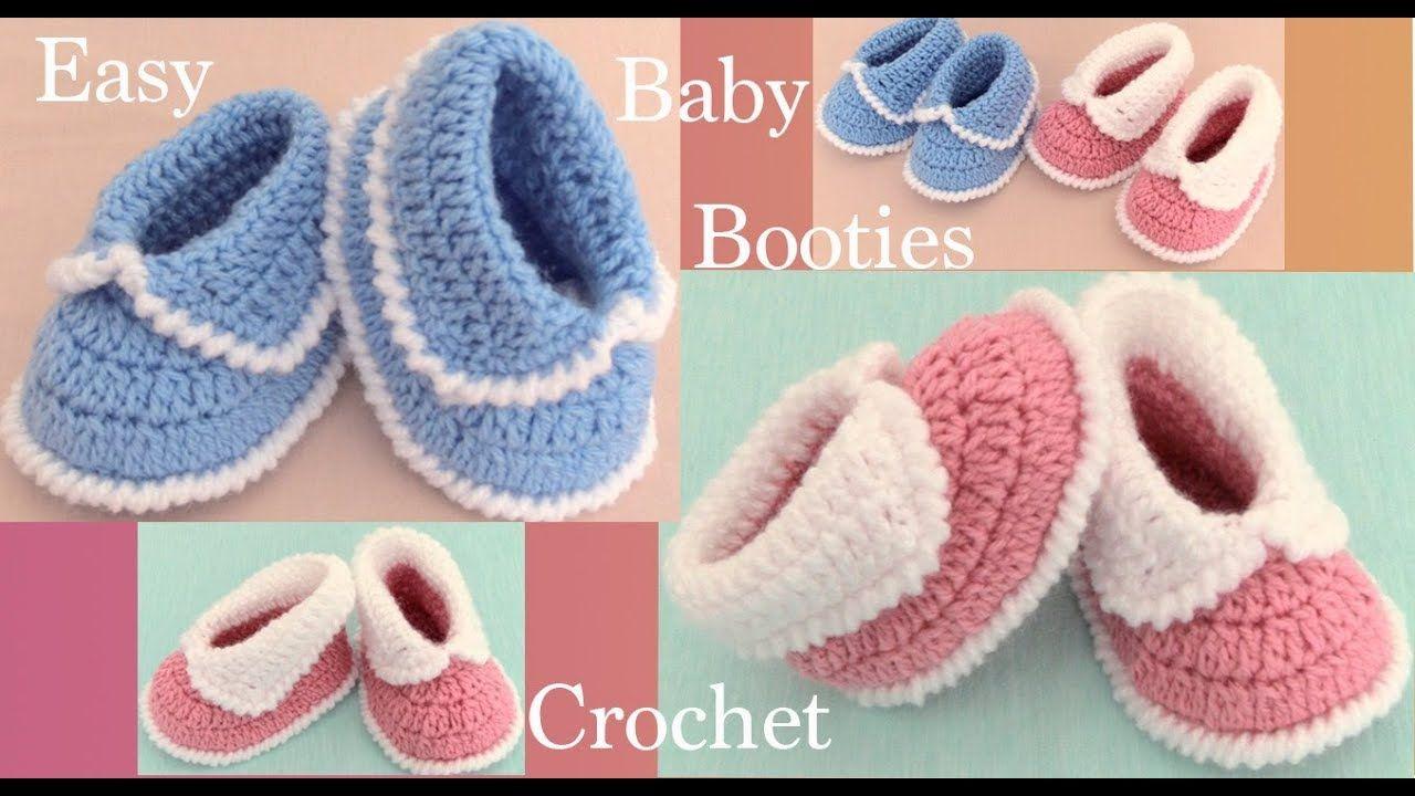 Zapatitos A Crochet Para Bebes Tejido Paso A Paso Tallermanualperu Zapatitos Tejidos A Crochet Tejido Paso A Paso Patucos Bebe Ganchillo