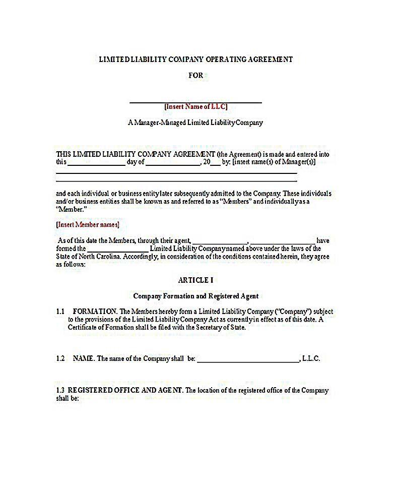 Sample Operating Agreement For Two Member Llc 23 Llc Operating