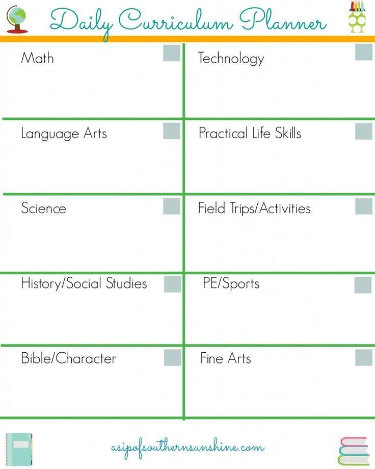 Free Homeschool Daily Planner-How We Use It   Homeschool   Pinterest