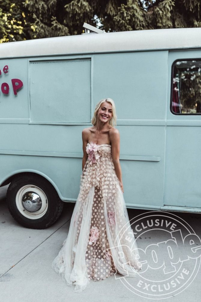 Every Single Outfit Julianne Hough Wore During Her Wedding Weekend From Bikinis To Ballgowns Bridesmaid Dresses Wedding Weekend Dresses