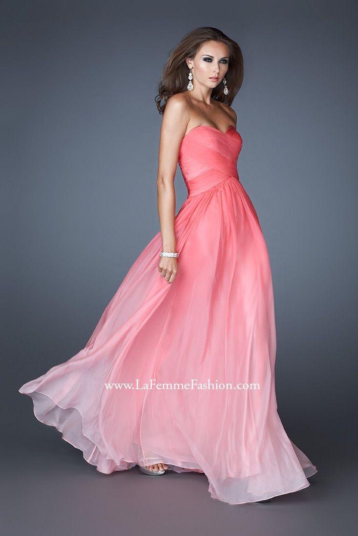 La Femme Ombre Chiffon Prom Dress with Crisscross Design 17004 Too ...