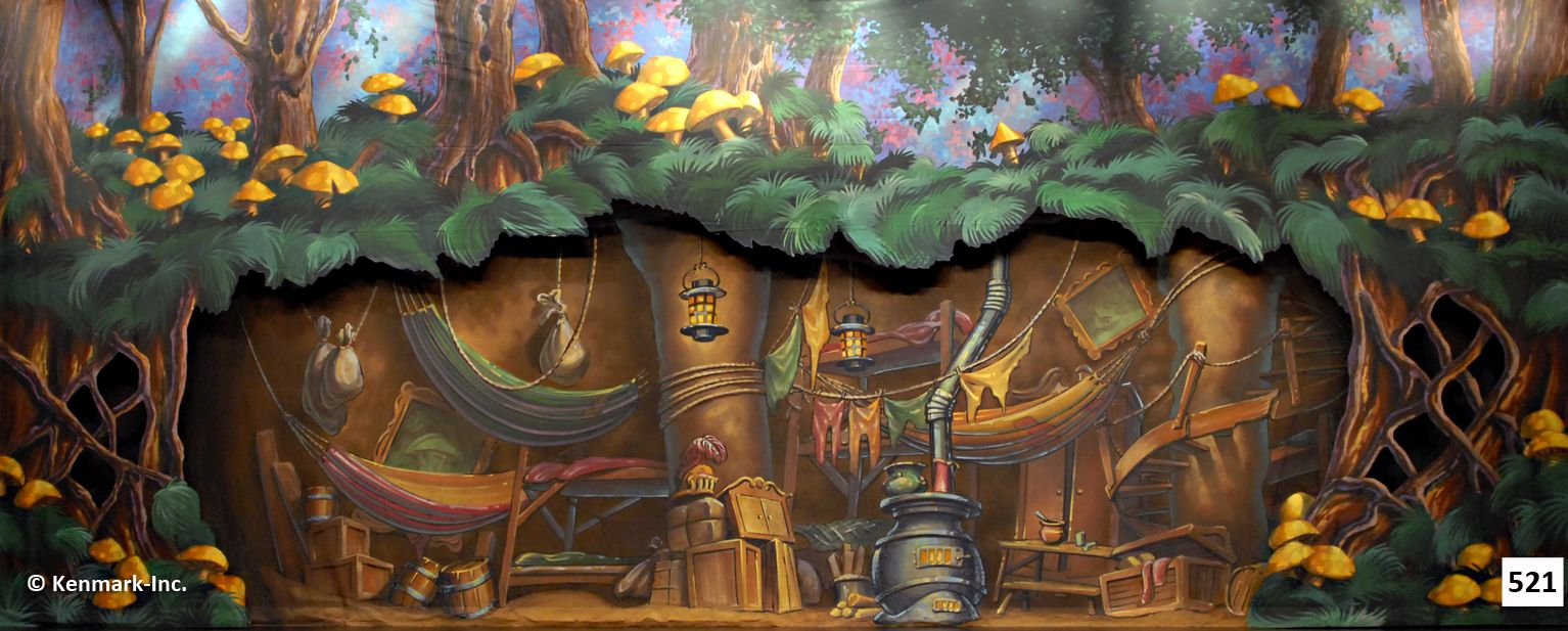 Peter Pan Boy S Home Underground Scenic Backdrops