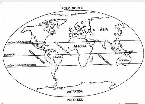 Imagens do mapa mundo para imprimir e colorir | CIENCIAS SOCIALES ...