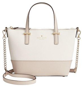 d62de7f6e18 Kate Spade Leather Ivory Tan Gold Cross Body Bag | Accessories ...