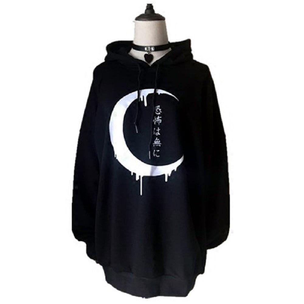 Women/'s Gothic Punk Hoodies Zipper Jacket Coat Sweatshirt Long Sleeve Outwear