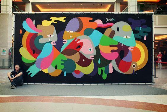 Oli B S Beautiful Shapeshifting Abstract Street Art Street Art Graffiti Street Art Mural Art