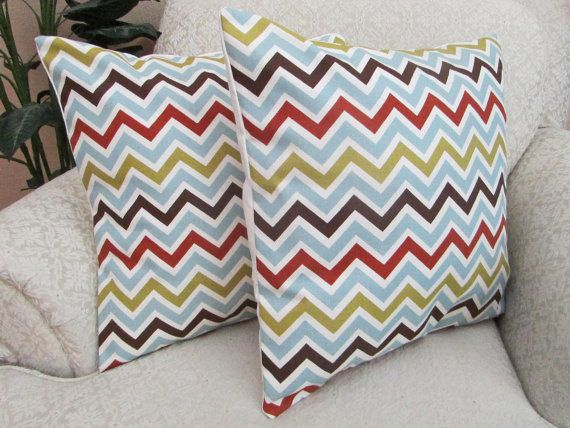 Modern Chevron Pillow Covers Decorative Couch Cushion Covers Ice Awesome Ice Blue Decorative Pillows