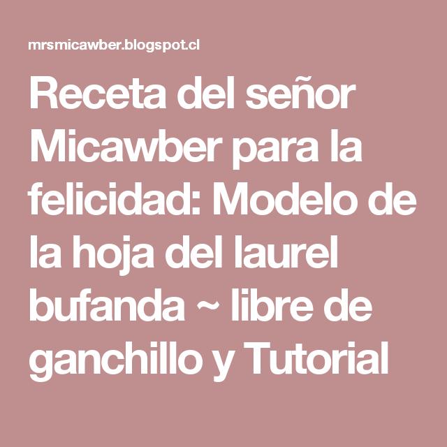 Receta del señor Micawber para la felicidad: Modelo de la hoja del ...