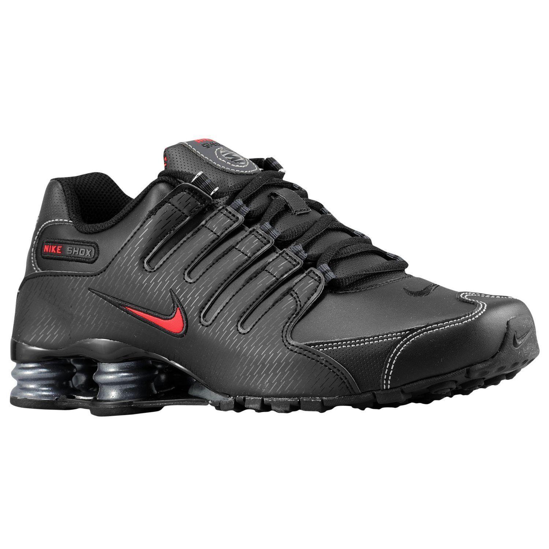 Nike Shox NZ Mens Size 11 Running Shoes Black Varsity Red White 378341 017
