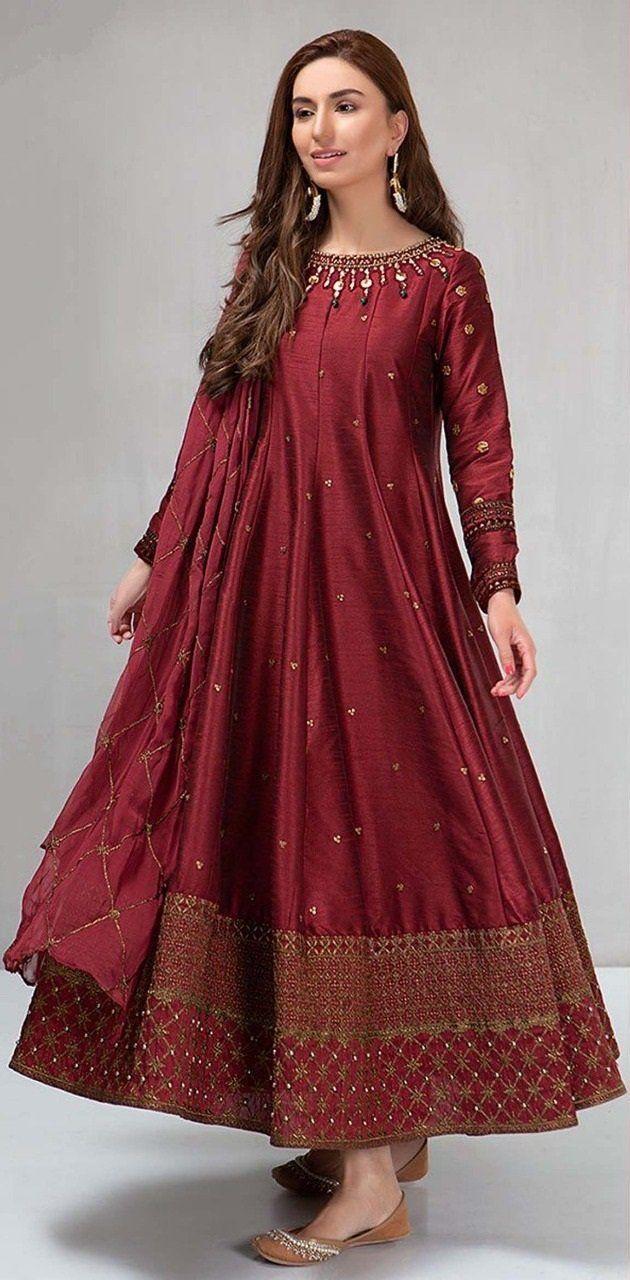 Maria B Chiffon Maxi – Replica Zone   Pakistani dresses ...