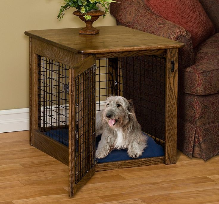 Amish made wire dog crate end table in 2020 dog crate