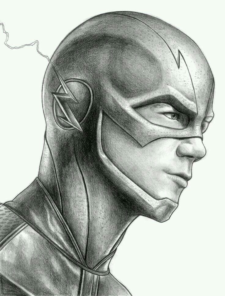 The Flash Barry Allen Grant Gustin Desenhos Realistas Flash