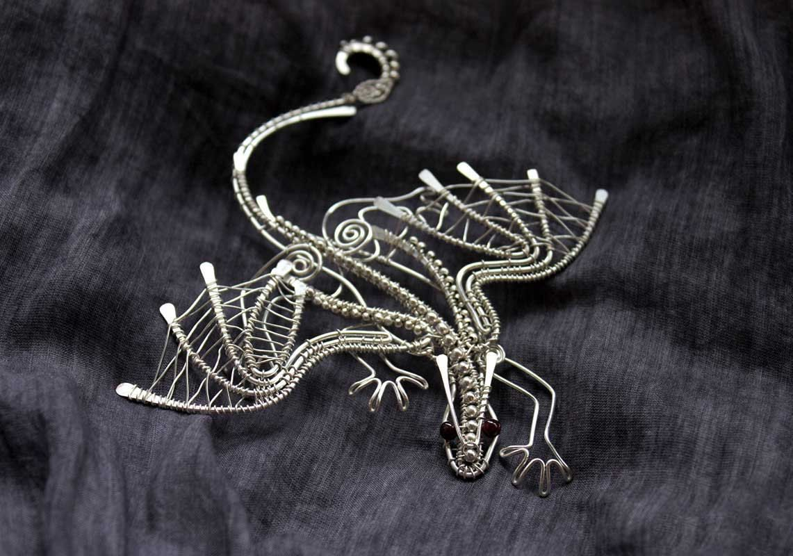 Silver plated dragon pendant with garnet eyes and heart fantasy silver plated dragon pendant with garnet eyes and heart fantasy pendant metal dragon metallic miniature fantasy guardian aloadofball Choice Image
