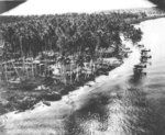 New Guinea-Papua Campaign, US reconnaissance photo of a Japanese seaplane base, New Guinea, 1942-1943; note Mitsubishi F1M2 Float Planes, US code named 'Pete'