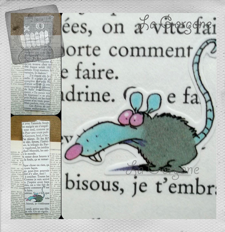 Rat Marque page de la Gorgone. Recyclage : Marque-pages par la-gorgone