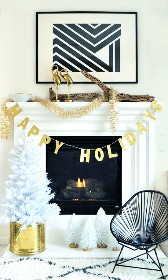 My modern holiday home christmas decorations christmas - Modern christmas mantel ideas ...